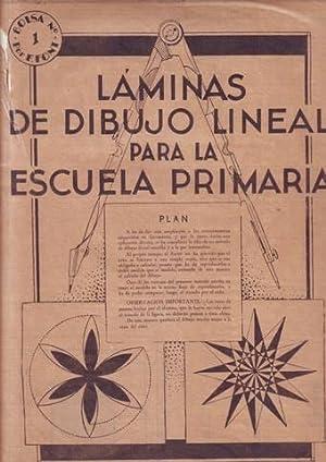 LAMINAS DE DIBUJO LINEAL PARA LA ESCUELA PRIMARIA. Bolsa nº1 por F. Font.