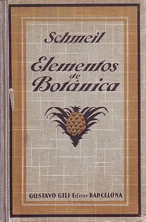 ELEMENTOS DE BOTANICA.: SCHMEIL, Otto