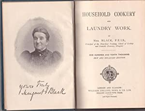 HOUSEHOLD COOKERY and LAUNDRY WORK.: BLACK