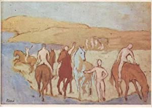 CHEVAUX AU BAIN. 1905. The watering place. Pferde an der Tränke. Worcester Art Museum (anonymous ...