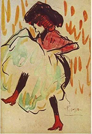 BAILARINA 'CAN-CAN' (1901) Danseuse de cancan. Can-can dancer. 'Can-Can'-Tänzerin. Museo Picasso,...