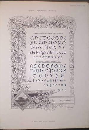 ALBUM CALIGRAFICO UNIVERSAL. Colección de muestras y ejemplos de caracteres de escritura ...