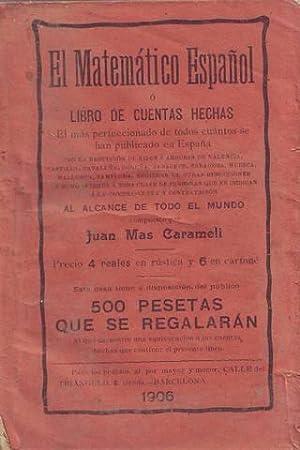 EL MATEMATICO ESPAÑOL o libro de cuentas: MAS CARAMELI, Juan