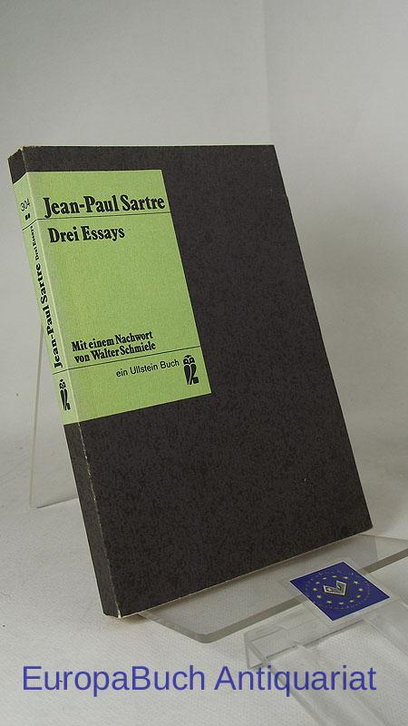 jean paul sartre 3 essay Existentialism and humanism is probably the most widely read of all sartre's  philosophical writings, and it is certainly one of his more accessible pieces yet.