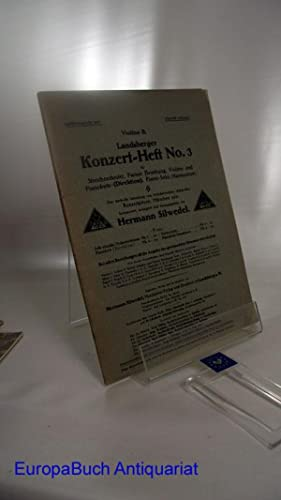 Landsberger Konzert-Heft No. 3 Violino II. für: Silwedel, Hermann: