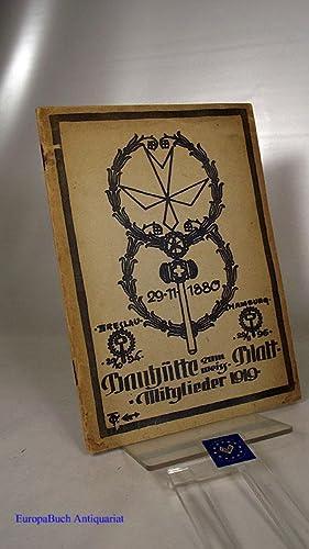 Bauhütte zum weißen Blatt -Mitglieder 1919 (Hütten - Buch) Herausgegeben von der Bauhütte zum ...