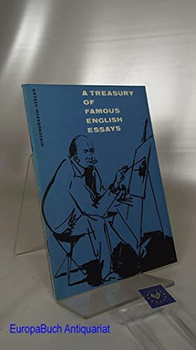 A Treasury of Famous English Essays from: Krog, Fritz (Herausgeber):