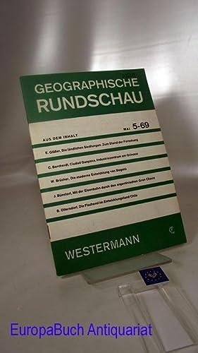 Geographische Rundschau 5-69 Jahrgang 21 Heft 5/: Otremba, Erich (Herausgeber),