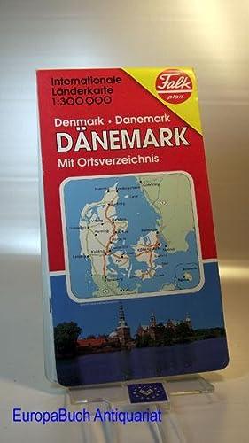 Falk Pläne, Dänemark, Internationale Länderkarte(Nr.1431) 23 Seiten