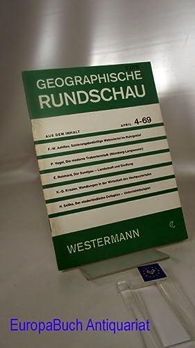 Geographische Rundschau 4-69 Jahrgang 21 Heft 4/: Otremba, Erich (Herausgeber),