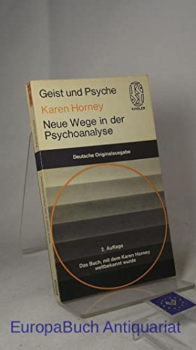 Neue Wege in der Psychoanalyse (Geist und: Karen, Horney: