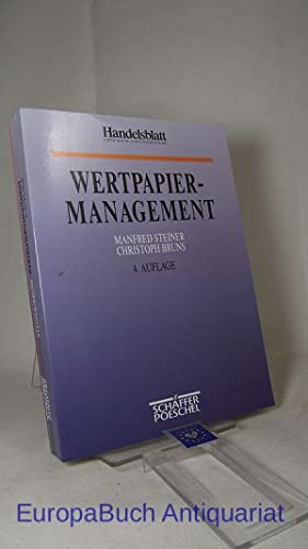 Wertpapiermanagement.: Steiner, Manfred und