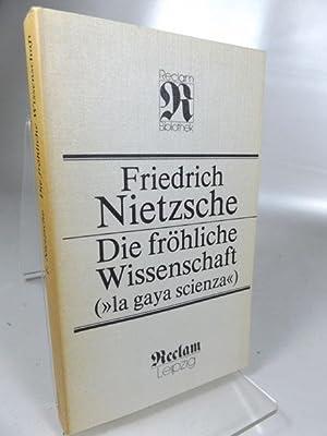 """Die fröhliche Wissenschaft (""""La gaya scienza""""). Herausgegeben: Nietzsche, Friedrich:"""