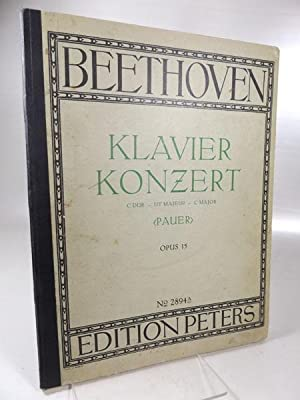 Klavier-Konzert C dur - Ut majeur - C major. Opus 15. (Pauer). Edition Peters Nr. 2894a.