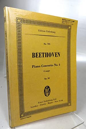 Piano Concerto No. 4, Op. 58 in G Majo Author: Ludwig van Beethoven] published on (August, 1981)