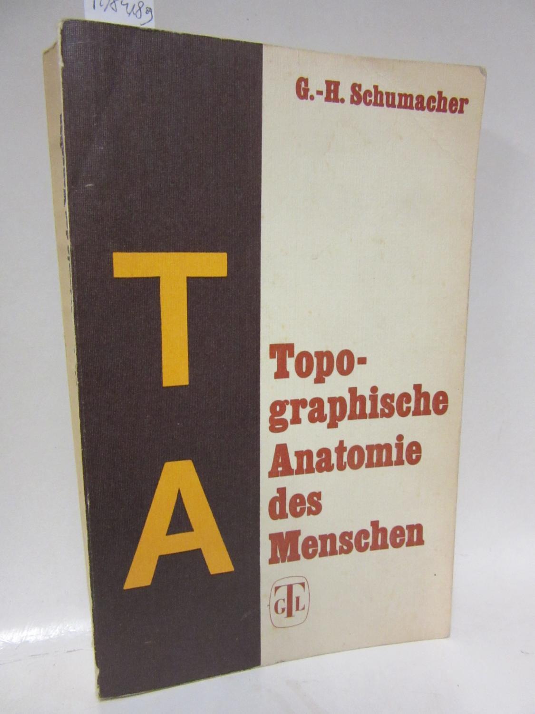 topographische anatomie des menschen von schumacher - ZVAB