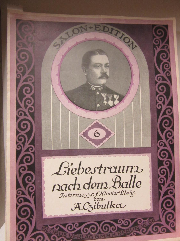 Alphons Czibulka. Liebestraum nach dem Balle. Intermezzo für Klavier zweihändig. Opus 356.