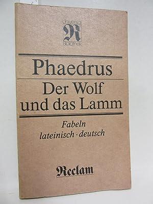Der Wolf und das Lamm. Fabeln. Lateinisch: Phaedrus: