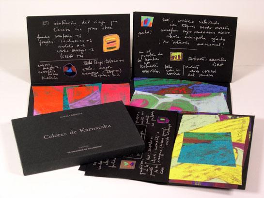 colores de karnataka by marta cardenas estampa ediciones madrid sin encuadernar edicin limitada firmado por el autores ediciones estampa