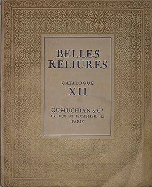 BELLES RELIURES Catalogue XII