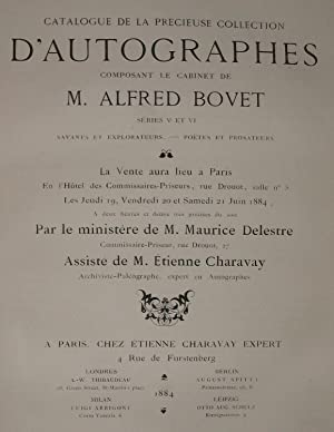 Catalogue de la précieuse collection d'Autographes composant le Cabinet de M. A. B. S&...