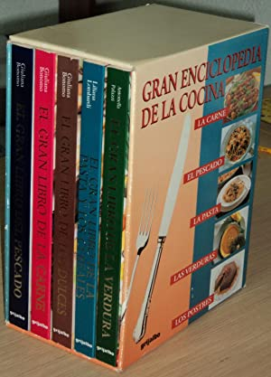 GRAN ENCICLOPEDIA DE LA COCINA (5 Vols.) EL GRAN LIBRO DEL PESCADO - EL GRAN LIBRO DE LA CARNE - EL...