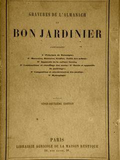 GRAVEURS DE L'ALMANACH DE BON JARDINIER. Paris,