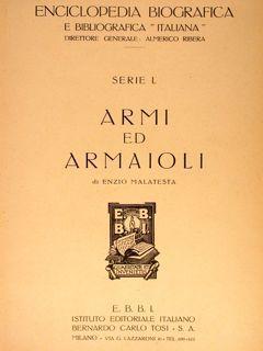 """Enciclopedia Biografica e Bibliografica """"Italiana"""". Serie I.: MALATESTA Enzio"""