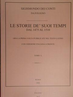 Le storie de' suoi tempi dal 1475: Sigismondo dei Conti