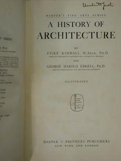 A History of Architecture.