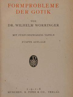 FORMPROBLEME DER GOTIK.: WORRINGER WILHELM