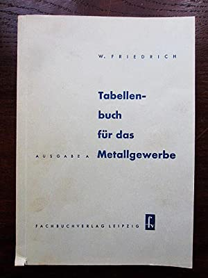 Tabellenbuch für das Metallgewerbe Ausgabe A: Friedrich, Wilhelm