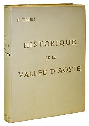 Historique de la Vallee D'Aoste: Tillier, Jean Baptiste de