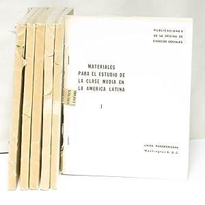 Materiales para el estudio de la clase media en la america latina: Crevenna, Theo R. (editor)