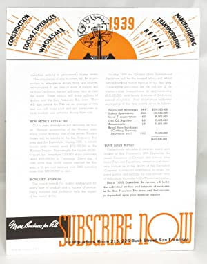 Your Investment for '39 Means More Business for All: 1939 World's Fair on San Francisco ...