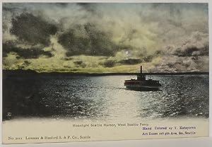 Seattle Postcards (5) Hand-colored by T. Katayama: Katayama, T.