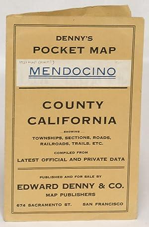 Denny's Pocket Map of Mendocino County, California: Lentell, J. N.