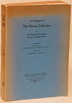 A Catalogue of the African Collection in the Moorland Foundation, Howard University Library: Porter...
