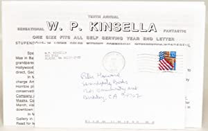 Tenth Annual Sensational W. P. Kinsella Fantastic One Size Fits All Self Serving Year End Letter: ...