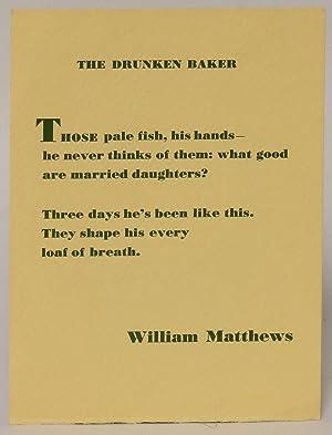 The Drunken Baker: Matthews, William
