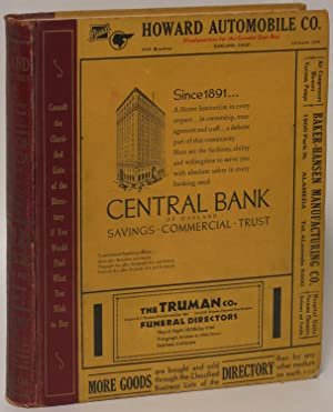 Polk's Oakland (California) City Directory 1933 (Vol. XLI) Including Alameda, Berkeley, ...