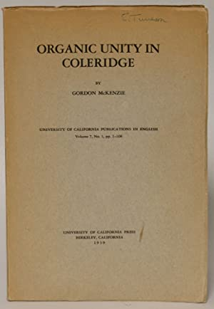 Organic Unity in Coleridge: Gordon McKenzie