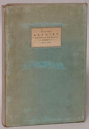 Elegien (Erotica Romana): Goethe, Johann Wolfgang von