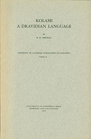 Kolami: A Dravidian Language: Emeneau, M. B.