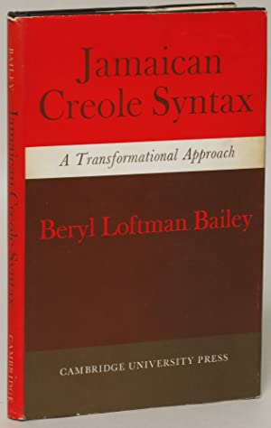 Jamaican Creole Syntax: A Transformational Approach