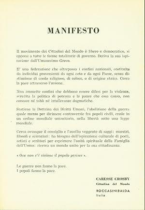 Manifesto: Crosby, Caresse
