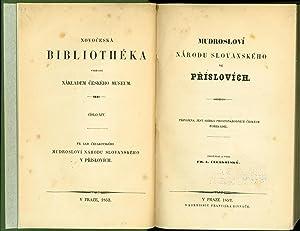 Mudroslovi narodu slovanskeho ve prislovich: Pripojena jest sbirka prostonarodnich ceskych ...
