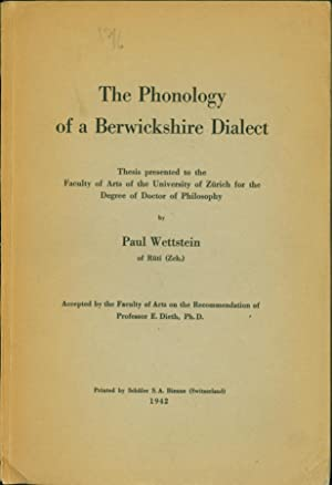 The Phonology of a Berwickshire Dialect