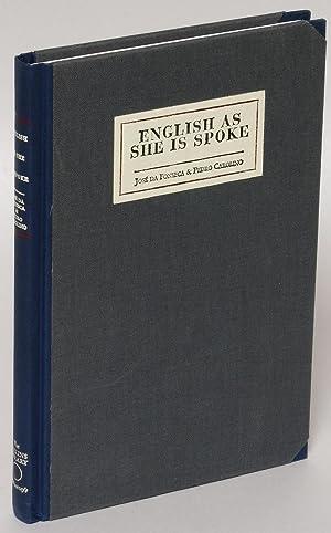 English As She Is Spoke: The New: Fonseca, Jose da
