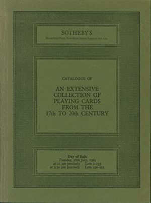 Catalogue of an Extensive Collection of Playing Cards from the 17th to the 20th Century